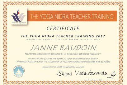 Opleiding tot Yoga Nidra teacher succesvol afgerond
