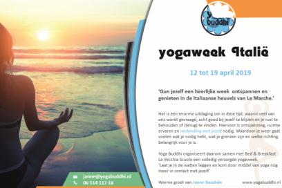 Schrijf je nu in voor de yogaweek Italië 2019