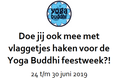 Doe jij ook mee met vlaggetjes haken voor de Yoga Buddhi feestweek?!